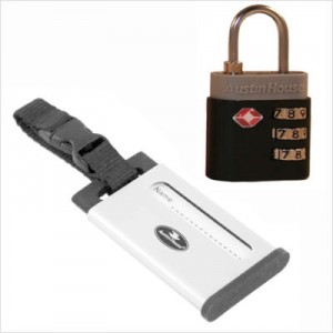 Combination Lock and Luggage Tag Set