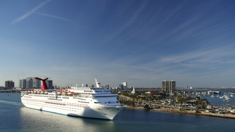 Cruise Ship Leaving Miami