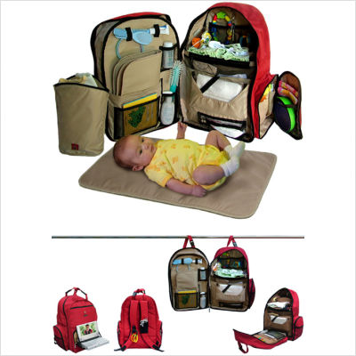 Okkatots Travel Baby Depot/Travel Diaper Backpack